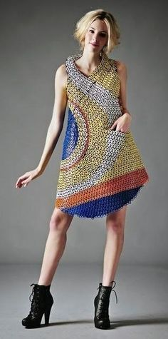 About 2,500 drink can tabs make up this dress from Texas-based fashion professor Li-Fen Anny Chang
