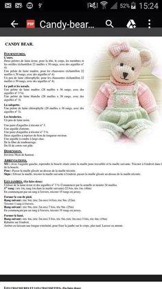 ours - magalianne tricote Knitting Bear, Teddy Bear Knitting Pattern, Baby Cardigan Knitting Pattern Free, Crochet Teddy Bear Pattern, Animal Knitting Patterns, Crochet Baby Cardigan, Crochet Toys Patterns, Diy Teddy Bear, Knitted Teddy Bear