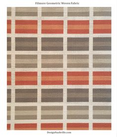 Filmore Geometric Fabric, orange