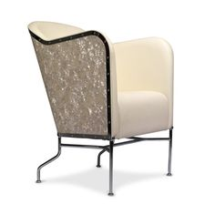 STAR design Mats Theselius. Pearl, chromed steel frame, leather. Limited edition of 360 pcs. Källemo.