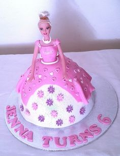 Pretty Pink Barbie Birthday Cake - THE SWEET ESCAPE