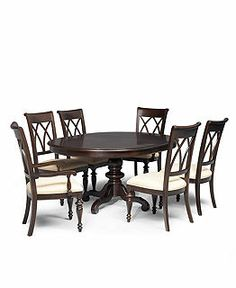 bradford dining room furniture collection round dining room furniture macys - Bordeaux Louis Philippe Style Bedroom Furniture Collection