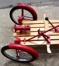 1919 CycleKart American : Registry : The CycleKart Club Go Karts, Custom Bikes, Custom Cars, Ideas Para Inventos, Bicycle Engine, Diy Go Kart, Push Bikes, Balance Bike, Wooden Slats