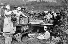 During World War I, girls learned about food production and conservation, sold war bonds, worked in hospitals, and collected peach pits for use in gas mask filters. Girl Scout Troop, Girl Scouts, Civil War Photos, Camping Activities, Magnum Photos, Women In History, World War I, Historical Photos, First World