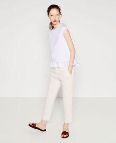 Zara TOP POPELINE