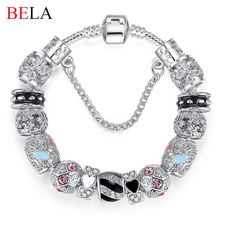 Bracelets For Women Silver Plated Crystal Beads Authentic Jewelry