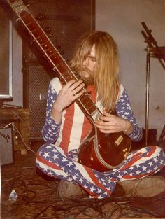 flag pants sitar 1960s hippie (Yes, fellow baby boomers, this was the old days... seems kinda funny...)