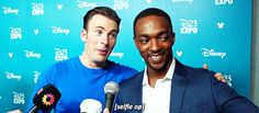 Chris Evans and Anthony Mackie