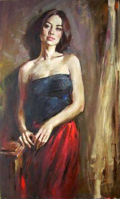 Andrew Atroshenko - Awaiting - Oil on Canvas Original Painting