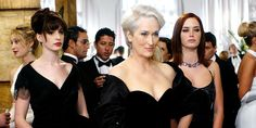 """Streep wanted Miranda's appearance to be a cross between 85-year-old model Carmen Dell'Orefice (particularly her hair) + """"the unassailable elegance and authority of Christine Lagarde,"""" Streep said. Yes."""