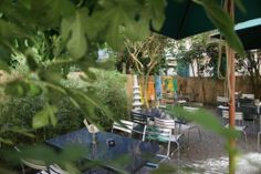Chez Nhan - Vietnamese Restaurant with a hidden garden in the backyard. This is one of my favorite restaurants in Zurich. Vietnamese Restaurant, Hidden Garden, Zurich, Restaurants, Backyard, My Favorite Things, Patio, Restaurant, Backyards