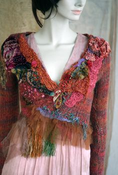 Jungle wrap bohemian romantic mohair blend cardi by FleurBonheur