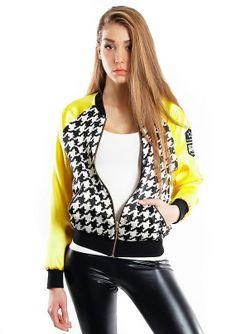 "bomber jacket ""pepita"" on www.endorfinajeans.com"