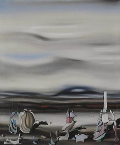 Yves Tanguy (French, Entends-tu [Do You Hear], February Oil on canvas, 65 x 54 cm. Dada Artists, Famous Artists, Surrealism Painting, Painting Collage, Art Paintings, Yves Tanguy, Automatic Drawing, Max Ernst, Rene Magritte