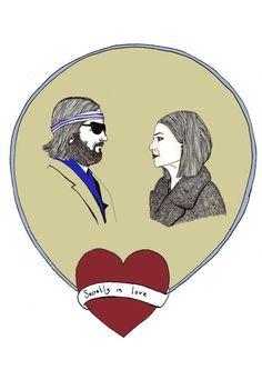 Tenenbaum valentine. wes anderson. love. valentine. art. the royal tenenbaums. richie and margot. original print was available from: http://www.etsy.com/shop/CarolineDowsett