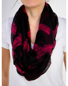 Pink and Black Gun Scarf