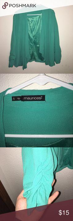 Sea foam Light Jacket from Maurices Sea foam green/teal light jacket; size 1 from Maurices Maurices Jackets & Coats Blazers
