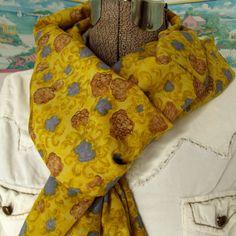 Handmade Floral Infinity Scarf Soft Silk Fabric by GypsythatIwas, $26.00