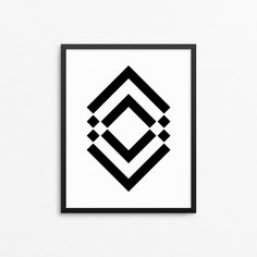 Modern design with geometric print for home decor. Abstract tribal art poster. #creocrux