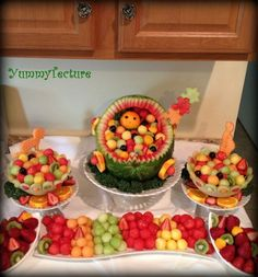 Baby fruit display yummytecture in 2019 baby shower fruit, b Baby Shower Fruit Tray, Baby Fruit, Baby Shower Fun, Baby Shower Cakes, Baby Shower Parties, Watermelon Baby Carriage, Deco Fruit, Fruit Creations, Fruit Displays