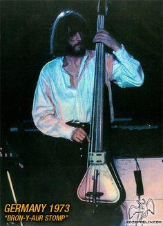Led Zeppelin Concert in Germany -John Paul Jones photographed during the Zeppelin performance in 1973...