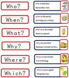 questions words in english ile ilgili görsel sonucu Learning English For Kids, Teaching English Grammar, Kids English, English Tips, English Language Learning, English Writing, English Study, English Lessons, English Vocabulary