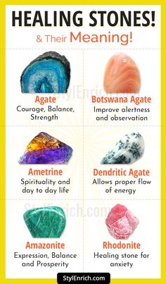 #HealingStones and Their Meaning to Attain Healing from Within!