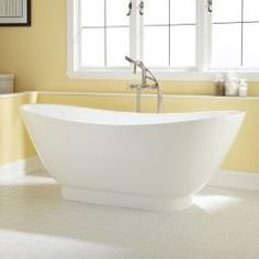 "70"" Curve Acrylic Pedestal Tub - Bathroom"