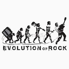 'Evolution of Rock' T-Shirt by Jack Black, The Midnight Beast, El Rock And Roll, David Bowie Ziggy, Music Words, School Of Rock, Music Humor, Classic Rock, Goods And Services