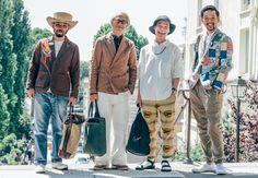 "Motofumi ""Poggy"" Kogi, Hirofumi Kurino, Keisuke Ikeya, and Mr. George - The United Arrows team"