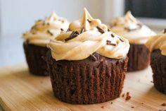 PB Brownie Cupcakes