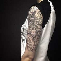 1337tattoos: Sacha Masiuk Cool geometric half sleeve
