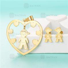 Conjunto de Joyas Acero Dorado para Mujer -SSSTG05-5796