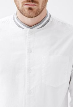 varsity collar shirt - Google Search
