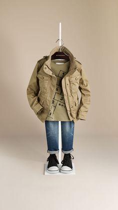 Stretch Cotton Blend Field Jacket | Burberry