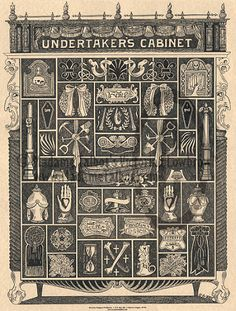Undertakers Cabinet by Madame Talbot.  As a mortician-in-training, of course I want this!