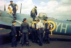 Crew disembarking after a mission against shipping along the Dutch coast. was based at Watton, East Anglia where this photo was taken on August, 18 Bristol Blenheim, Ww2 Aircraft, Royal Air Force, World War Two, Troops, Coast, British, Military, Navy