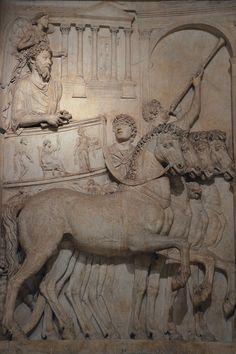 Marcus Aurelius. Bas-relief from the Arch of Marcus Aurelius, Rome, now in the Capitoline Museum in Rome.