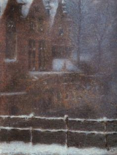Bruges - Snow Effect - Lucien Lévy-Dhurmer (French, 1865-1953)