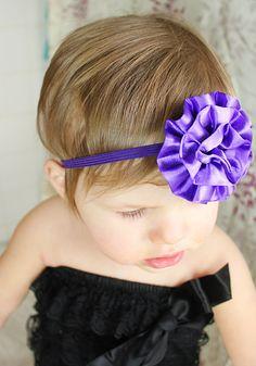 Purple Baby HeadbandSkinny Purple Elastic by LittleMissBlingNYC, $8.95