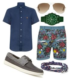 """""""vacay chic"""" by jeffrie-st-james on Polyvore featuring WeSC, Ralph Lauren, Lacoste, MIANSAI, Ray-Ban, mens, men, men's wear, mens wear and male"""