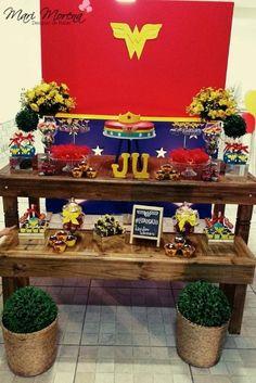 Decoração Mulher Maravilha By Mari Morena Designer de Festas | Inspire sua festa