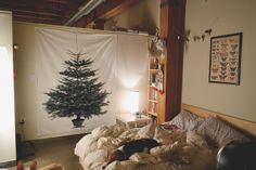 so last night we picked up our christmas tree… AT IKEA! this year, we made the hard decision to skip on a real tree since we're. Ikea Tree, Fabric Christmas Trees, Nifty, Home Decor, Decoration Home, Room Decor, Home Interior Design, Home Decoration, Interior Design