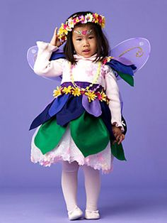 Halloween Costume How-to: Fairy Princess  Play dress-up in this pretty outfit, fashioned from a dress, turtleneck and tights, plus a felt flower skirt and floral headband. Top it all off with glittery angel wings.    Read more: Easy Halloween Costumes - Fairy Princess Costumes at WomansDay.com - Woman's Day