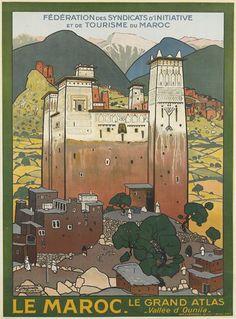 JACQUES MAJORELLE (1886-1962) LE MAROC. 1923.  41x29 1/2 inches, 104x75 cm. Champenois, Paris.