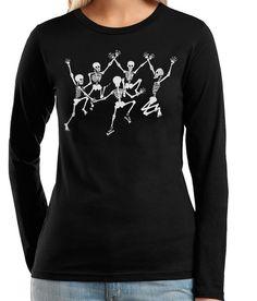 Skeleton Skull TShirt Dancing Skeletons by banyantreeclothing, $24.00