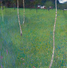 Farmhouse With Birch Trees,   Gustav Klimt