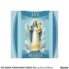 AVE MARIA VIRGIN MARY CHRIST CHILD Rosary Canvas Print