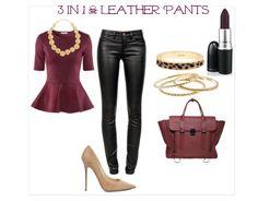 leather & bordeaux