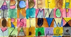 mrspicasso's art room: Paul Klee Letter Painting